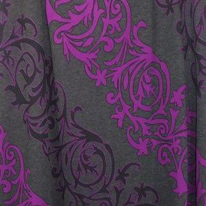 Women's size medium maxi skirt purple and gray